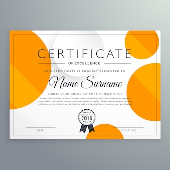 Abstract achievement certificate template