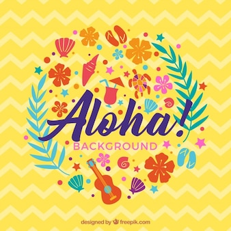 Abstract aloha background