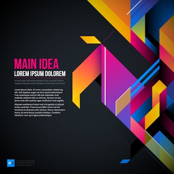 Abstract and geometric background, 3D style