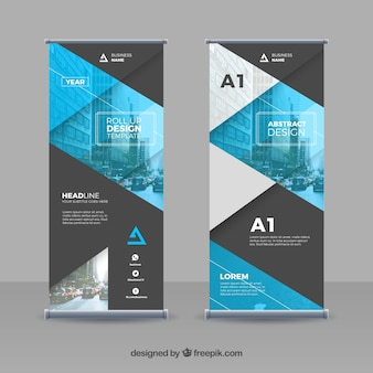 Abstract and geometric template for business roll up