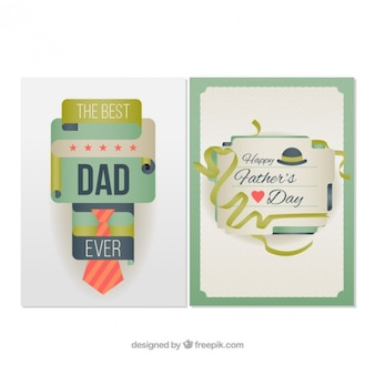 Abstract and original father's day cards