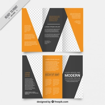Abstract and stylish trifold