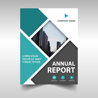 Abstract annual report cover