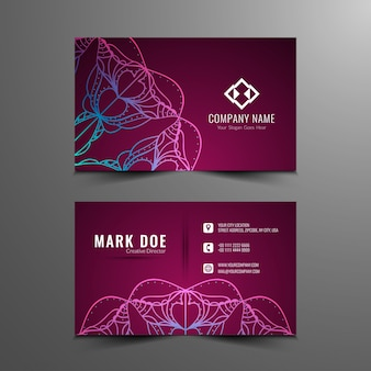 Abstract artistic business card design