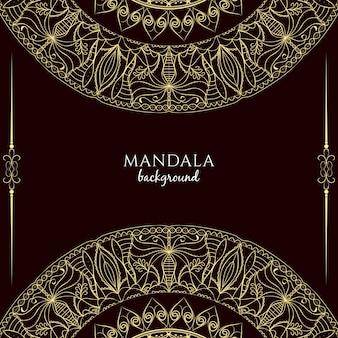Abstract artistic mandala design background