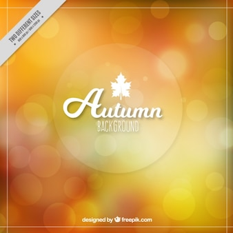 Abstract autumn background with bokeh effect