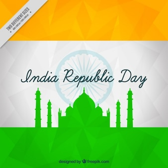 Abstract background for indian republic day with monument