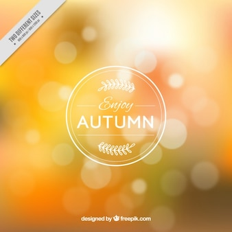 Abstract background of autumnal colors with bokeh effect