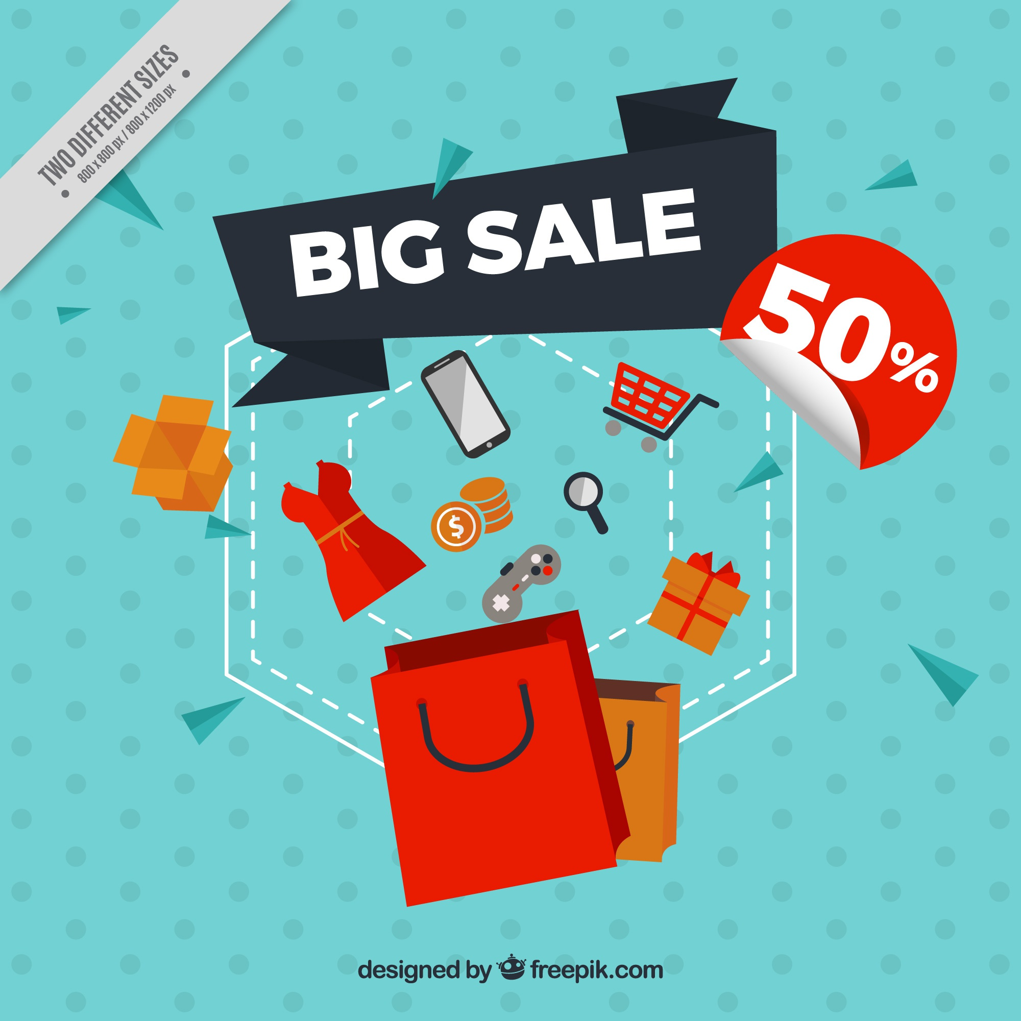 Abstract background of big discounts