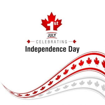 Abstract background of canada independence day