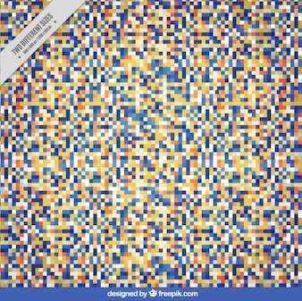 Abstract background of colored pixels