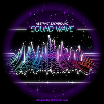 Abstract background of colored sound wave