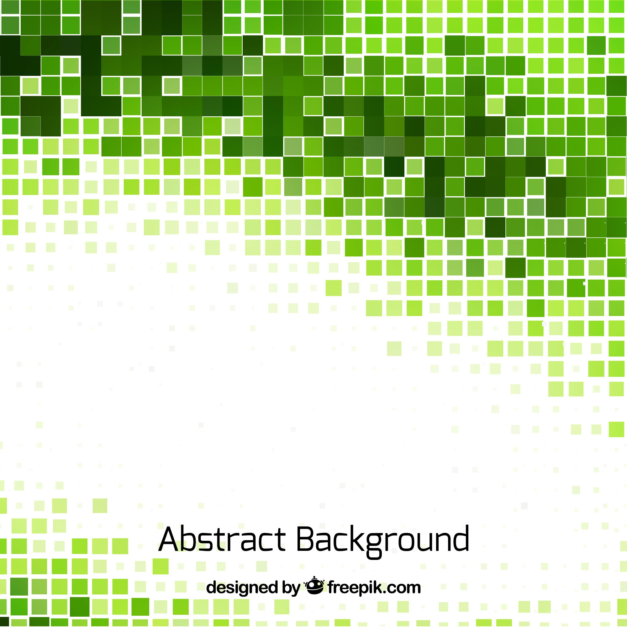 Abstract background of green mosaics