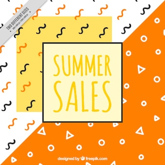 Abstract background of summer sales