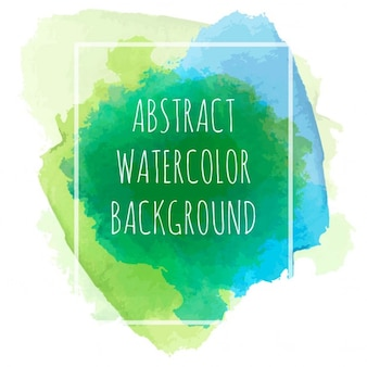 Abstract background of three colors in watercolor effect