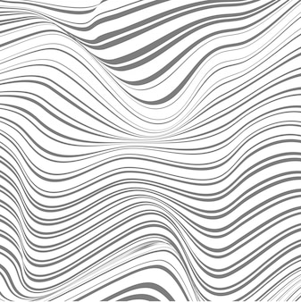 Abstract background of warped lines