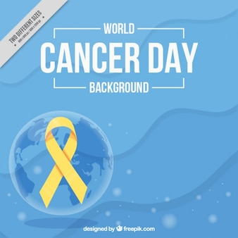 Abstract background of world cancer day