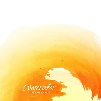 Abstract background of yellow watercolor