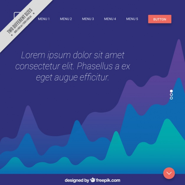 Abstract background web with menu