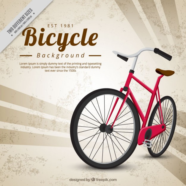 Abstract background with a classic bicycle