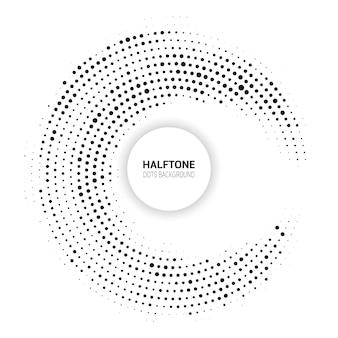 ハーフトーンドットデザインの抽象的な背景