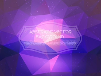 Abstract background with a low poly design