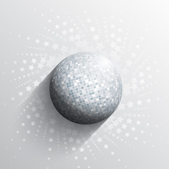 Abstract background with a mirror ball