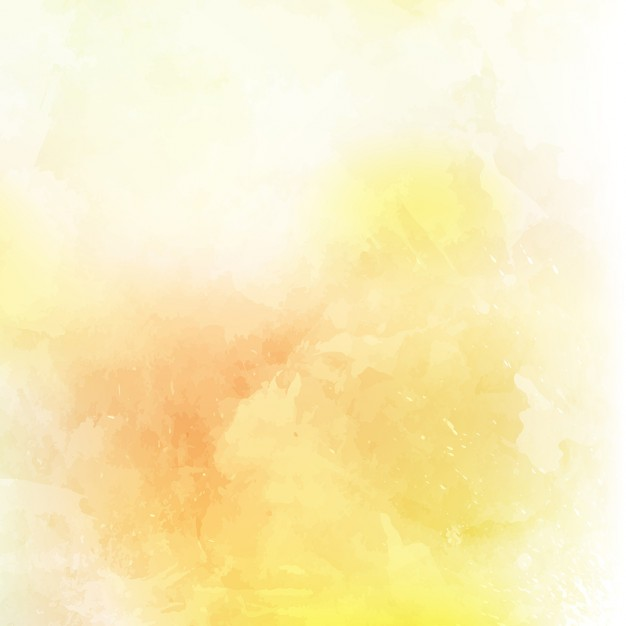 Abstract background with a yellow watercolor texture