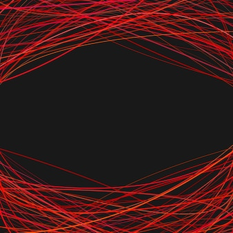 Abstract background with arched stripes at the top and the bottom - vector design
