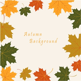 Abstract background with autumn maple leaves