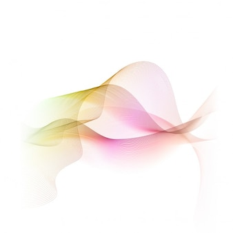 Abstract background with beautiful wavy shapes