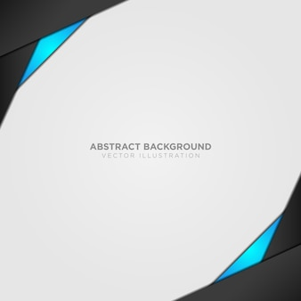 Abstract background with black and blue details