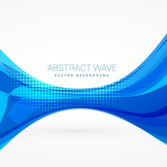 Abstract background with blue wave