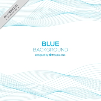 Abstract background with blue wavy lines