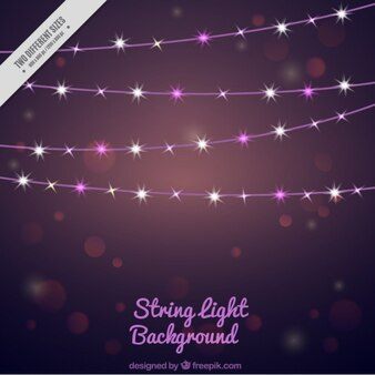 Abstract background with bright string lights