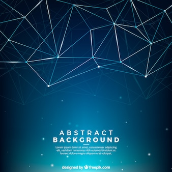 Abstract background with connected lines