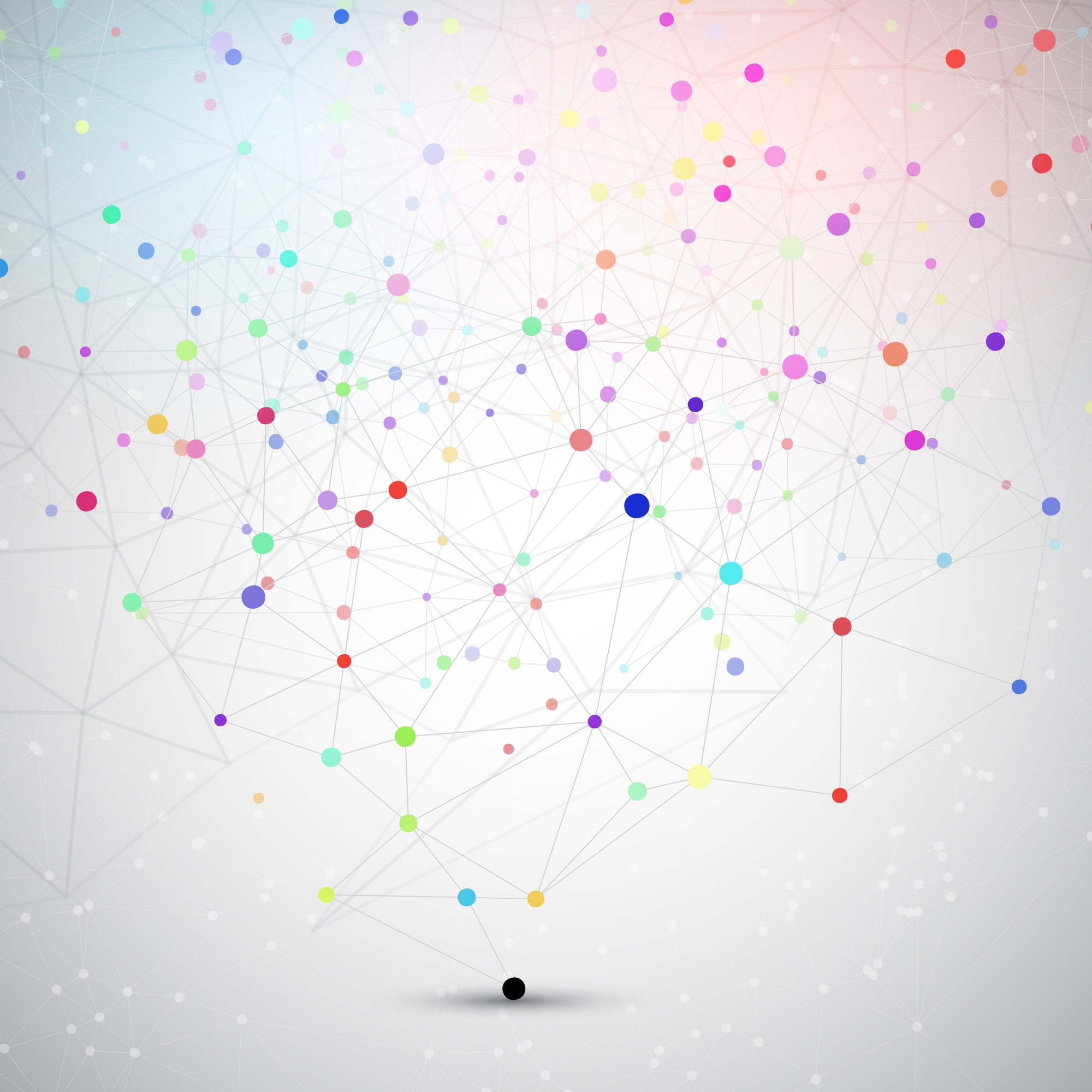 Abstract background with connecting dots and lines