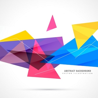 Abstract background with different polygonal shapes in full color