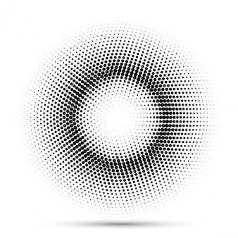 Abstract background with dots that make up a circle