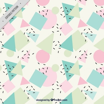 Abstract background with geometric shapes in pastel tones