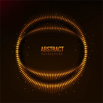 Abstract background with glowing circle