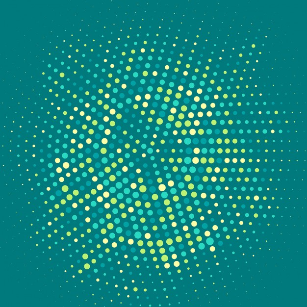 Abstract background with halftone dots