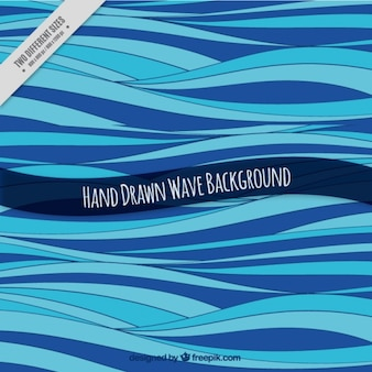 Abstract background with hand-drawn waves