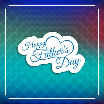 Abstract background with happy father's day label