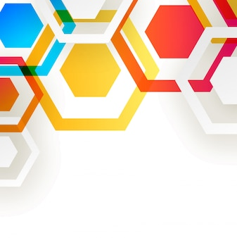 Abstract background with hexagonal design elements.
