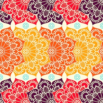 Abstract background with mandalas in warm colors