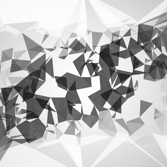 Abstract background with monochromatic polygons