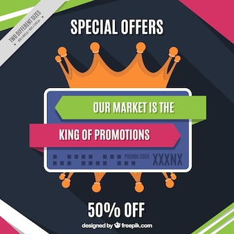 Abstract background with sale crown