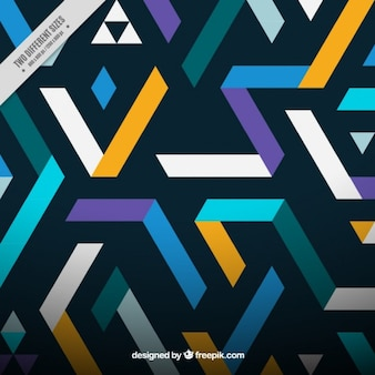 Abstract background with shapes in flat design