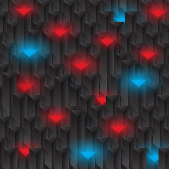 Abstract background with shiny blue and red lights